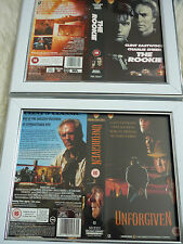 Rookie & Unforgiven Clint eastwood vhs sleeve Framed Poster B Movies Photo Dvd