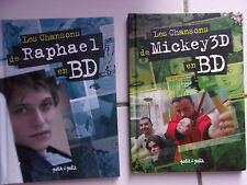 lot Les chansons de RAPHAEL et de MICKEY 3D en bd ( bandes dessinées