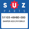 51103-48HB0-000 Suzuki Damper assy,fr fork,r 5110348HB0000, New Genuine OEM Part