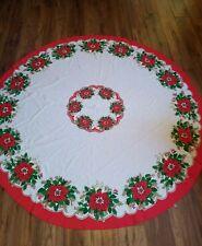 Vintage Christmas Tablecloth Sunweave Linen