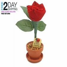 3rd Year Wedding Anniversary Gift, Potted Leather Desk Rose, Perfect Present for
