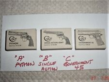 Vintage 1940's Box Of Wood Matches Colt  Python , Single Action and Gov Model 45