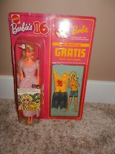 1973 VINTAGE SWEET 16 BARBIE FOREIGN GERMAN EDITION #7796 MINT IN BOX