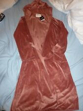Next Womens Velour Hooded Dressing Gown/Robe Size Small 8-10 New RRP £28