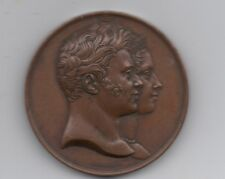 Beautiful mid 19th Century European Bronze Royalty Medal w/ Baby & Snake