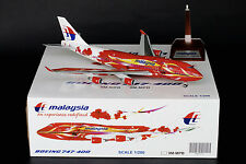 """Malaysia Airlines 747-400 """"Hibiscus"""" Reg 9M-MPD JC Wings 1:200 Diecast BBOX2525"""