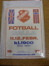 11/02/1979 skiold Fotball Galla: 5-A - Torneo de lado en Noruega, con altas