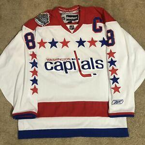 Reebok Alex Ovechkin Washington Capitals Winter Classic 2011 NHL Jersey White L
