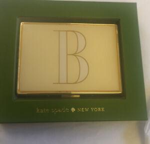 "Kate Spade Its Personal ID Holder ""B"" By Lenox Gold, White & Yellow NIB"