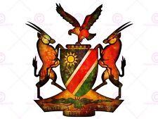 Cappotto di pittura braccia Crest Namibia AFRICA Gazzella EAGLE art print MP5306A