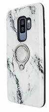 NEW!! For Samsung S8 S9 Plus Slim Marble Ring Case Cover With 360 Stand Hybrid