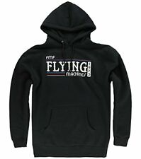 NEW NWT FMF RACING BACK IN THE DAY HOODIE FLYING MACHINES 1973 BLACK MEDIUM MD M