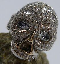 Toller Totenkopf Ring mit 167 Diamanten in 750/18k 56 (17,8 mm Ø) Gold Weißgold