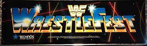 """WWF Wrestlefest Arcade Marquee 27""""x8"""""""
