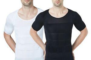 Sodacoda Men´s Body Compression T-Shirt Gynecomastia Shortsleeved Shape Shirt