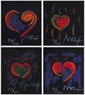 """Heart Suite III, Ltd Ed Lithographs Mini 2.75"""" x 2.5"""" ea, Peter Max-SIGNED w/COA"""