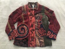 Spirit by Sandy Starkman Tapestry Blazer Jacket Brocade Patchwork Multicolor XS
