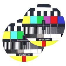 TECHNICS SLIPMATS (TV) coppia panni sottodisco per giradischi dj scratch NUOVI