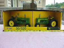 2 John Deere 1:16 Scale Ertl Die Cast Metal Model Tractors 50 & 520 ~New In Box!