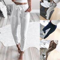 Femmes chinos pantalons d'affaires Loisirs taille haute maigre 3/4 été Pantalon