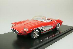 Chevrolet XP-700 Corvette Roadster Concept 1959 Red - Silver 1/43 Neo 46516 New