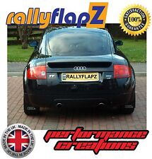 Audi TT MK1 Bespoke Mud Flaps Mudflaps rallyflapZ Black Ring Logo Silver 3mm PVC