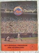 1970 New York Mets Program vs Montreal Expos