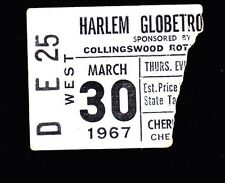 March 30 1967 Harlem Globetrotters Ticket Stub David Gaines Curly Neal M. Lemon