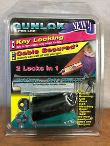 PRO-LOK GUNLOK - GL200 - KEY LOCKING - CABLE SECURED - 2 LOCKS IN 1 - NIP