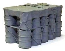 Milicast ACC94/2 1/76 Resin WWII Twentyeight 208 Liter Oil Drums in one block