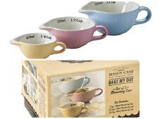 MASON Cash Bake My Day Set di 3 Coppe di Misurazione Pastello Colorato Baking misure
