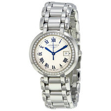 Longines Prima Luna Silver Dial Diamond Ladies Watch L8.112.0.71.6
