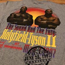 Vintage 90's Mike Tyson Evander Holyfield II WBA Boxing Promo T-Shirt L NEW NWT