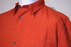 Jack Wolfskin Travel Check Shirt -L- Burnt Orange - Excellent Outdoor Hiking Top