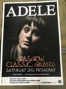 Adele - Rare Concert/Gig poster, Glasgow - February 2008