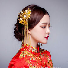 1 Pair Chinese Classical Women Hairpin Hair Step Shake Alloy Bride Accessories