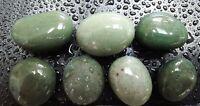 7 Michigan Green Slag Glass pieces Beachwashed Lake Superior Art Jewelry Craft