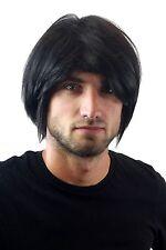 Herrenperücke, Männer, Men, Wig, schwarz, black, Länge: ca. 25 cm, GFW895-1B