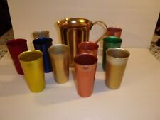 Anodized 10 Tumblers And 1 Pitcher