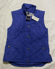 Women's Riding Sport Equestrian Wear Blue  Quilted Vest Size Large - NWT