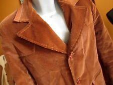 Medium True Vtg 70's Cocoa Brown Corduroy Leather Trim Creso Coat/Jacket
