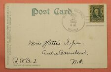 1908 DPO 1878-1917 MOUSE ISLAND ME MAINE CANCEL POSTCARD