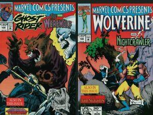 WOLVERINE / GHOST RIDER #108 (NM) Flip Comic Thanos Nightcrawler  A1.476