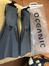 Oceanic Accel Open Heel Fin, Grey, Size Regular