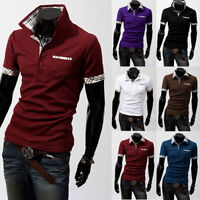 New Fine Design Mens fashion print polo-Shirts Cotton Short Sleeve Shirts 2019