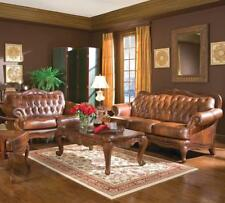 Coaster 500681 500682 Victoria Classic Rolled Arm Sofa And Loveseat