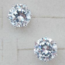 8*8mm Clear Nice White Round 3.3ct CZ Gems Gold Filled Stud Lady Earrings H502