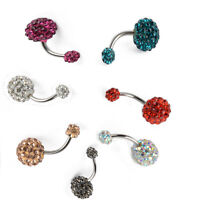 1pc HOT Belly Bars Clear Crystal Navel Bar Body Jewelry Piercing Ring Barbell