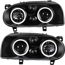 Scheinwerfer Set Satz CCFL Angel Eyes VW Golf 3 III  Bj. 91-97 Klarglas schwarz