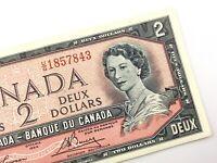 1954 Canada 2 Dollar Circulated UG Prefix Lawson Bouey Banknote Two Dollar R696
